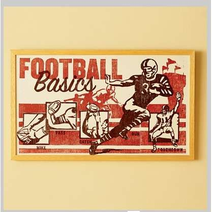 vintage football sign http://www.thisnext.com/tag/party-decorations ...