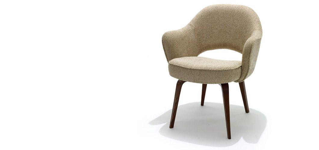 Knoll Saarinen Executive Arm Chair By Eero Saarinen Ebonized Walnut Leg