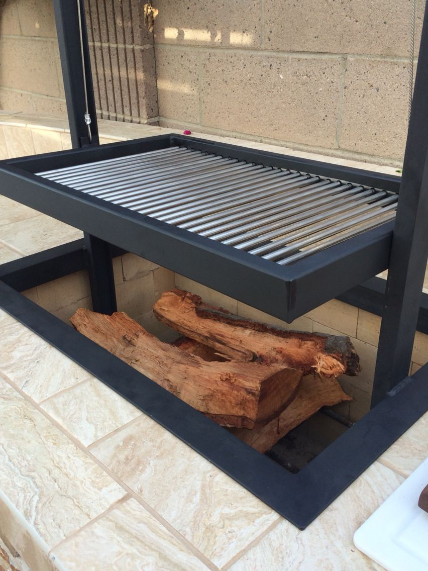 Santa Maria BBQ grill for my man cave. | Backyard bbq pit ...
