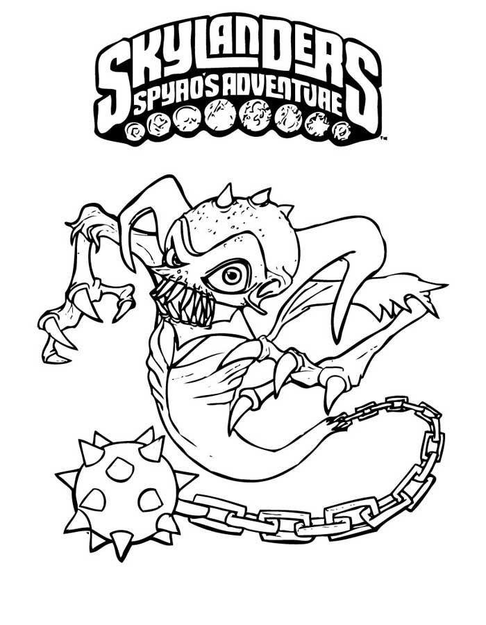 Skylanders Spyros Adventure Coloring Pages 5 | Skylanders coloring ...