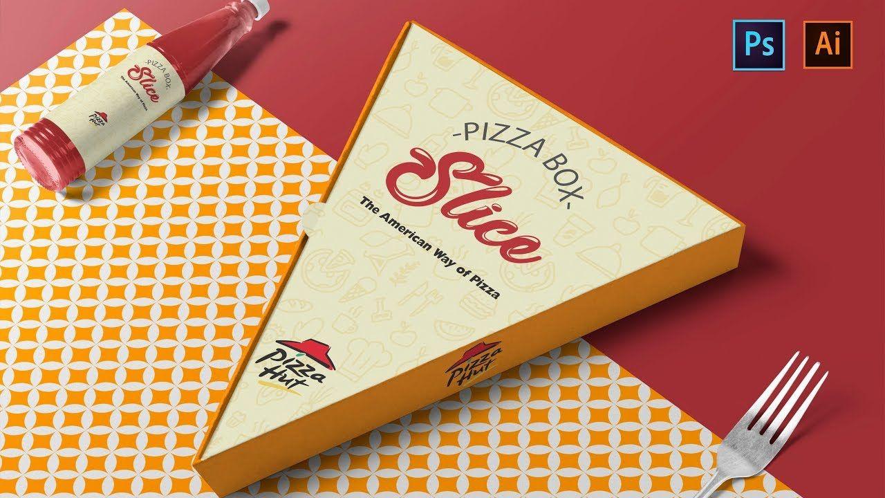 Download Pizza Slice Box Design And Mockup A To Z Illustrator Photoshop Tut In 2021 Pizza Box Design Pizza Boxes Restaurant Logo Design