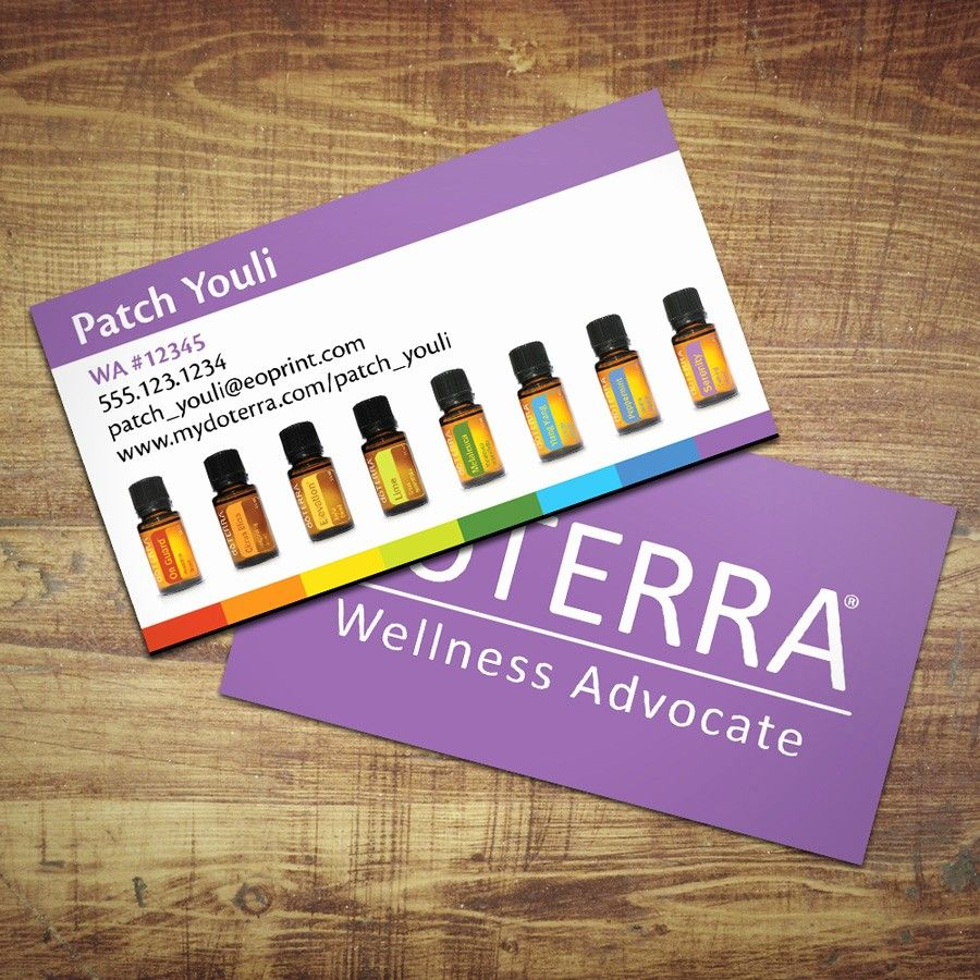 Doterra Business Card Template Free Awesome Row Of Bottles Doterra Business Cards Doterra Business Cards Template Free Business Card Templates
