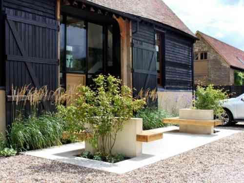 Aménagement extérieur maison : jardins d\'entrée modernes
