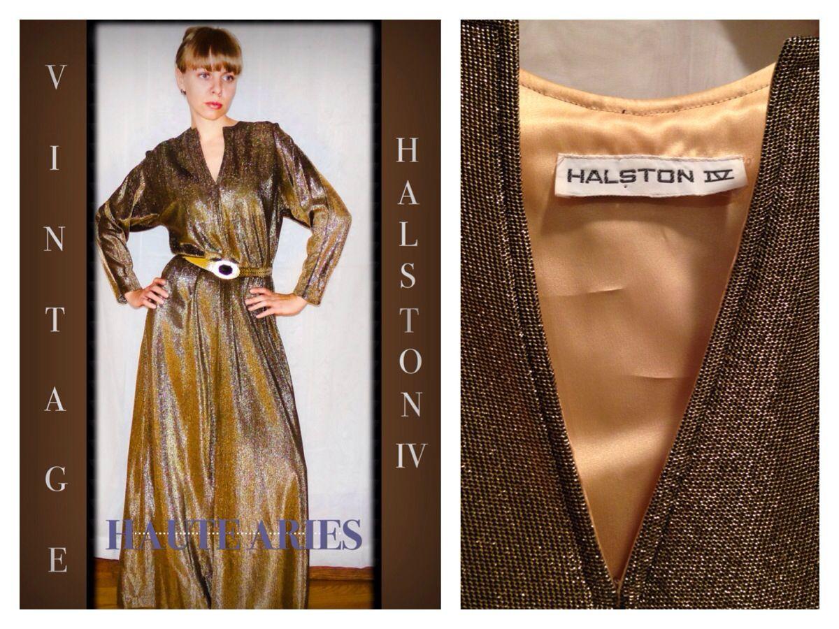 Vintage Halston IV goddess gown | Vintage Couture | Pinterest ...