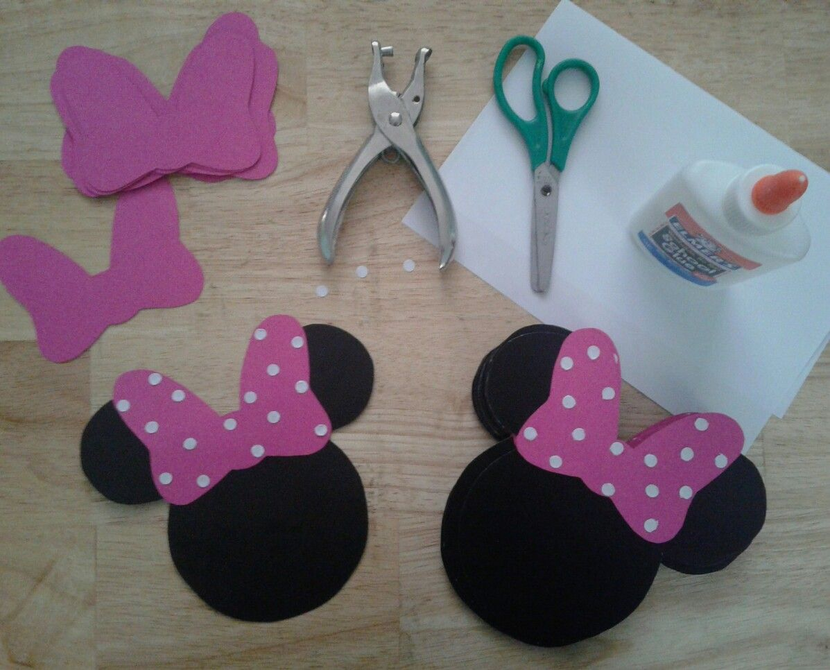 DIY Minnie Mouse Banner Birthday Decorations Party