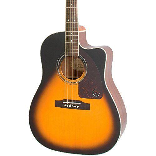 Epiphone Aj 220sce Acoustic Electric Guitar Vintage Sunburst Http Www Instrumentssale Com E Ovation Guitar Acoustic Electric Guitar Electro Acoustic Guitar
