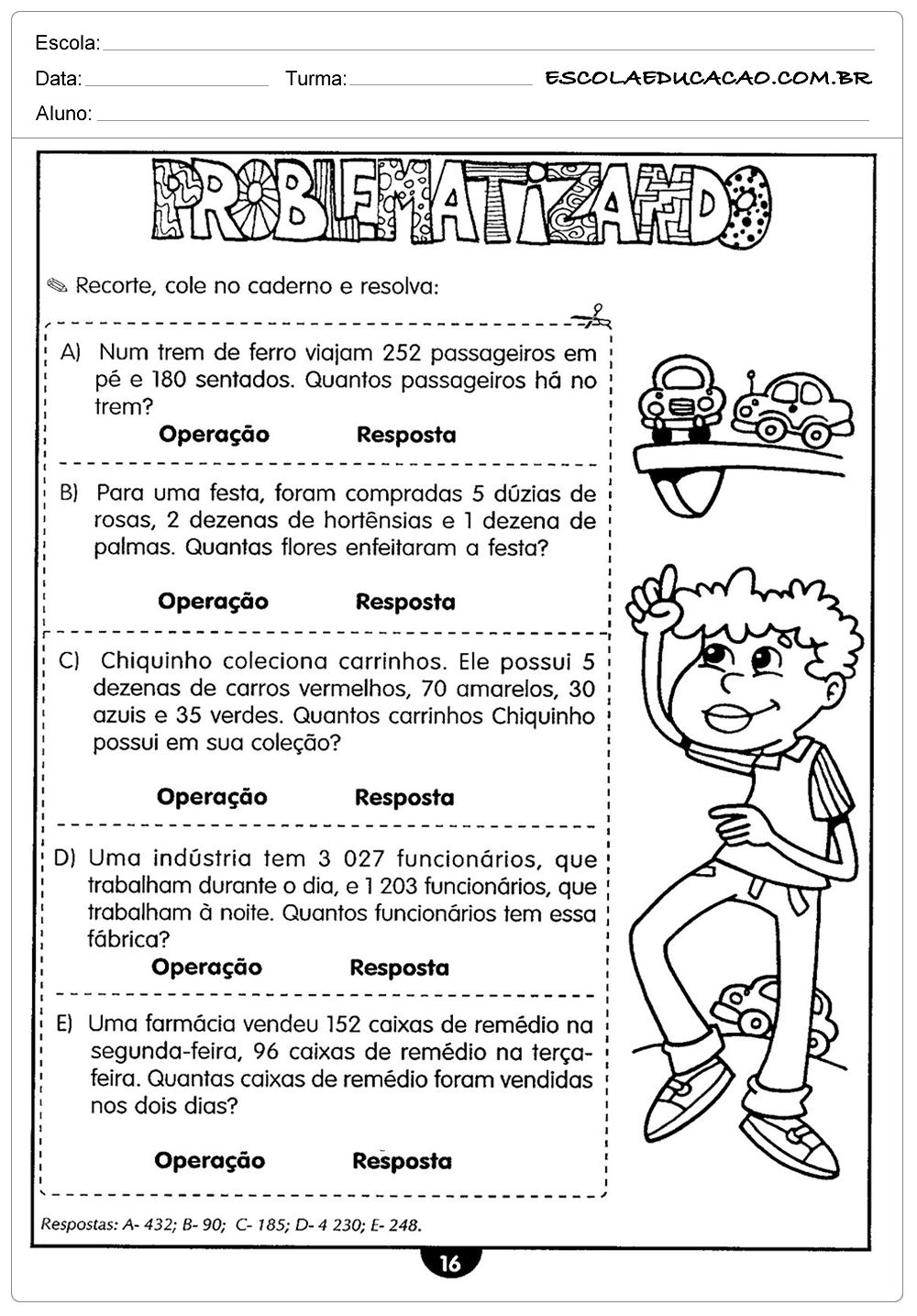 Avaliacao De Matematica Situacoes Problema Free Download As W
