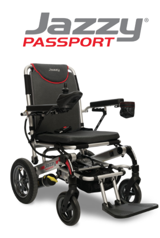 Pride Jazzy Passport Foldable Power Wheelchair Travel In
