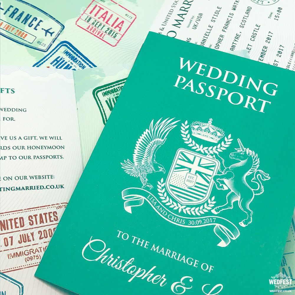 passport to love wedding invitation http://www.wedfest.co ...