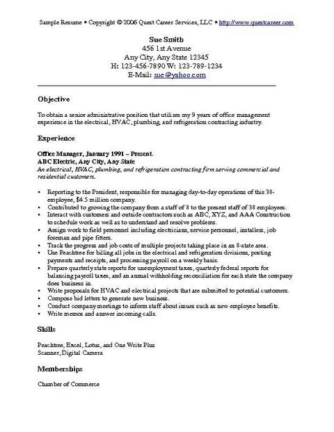 Examples Of Resume Objectives Examples Of Resume Objectives