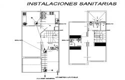 Sanitary water pipe house plan layout file   Cadbull