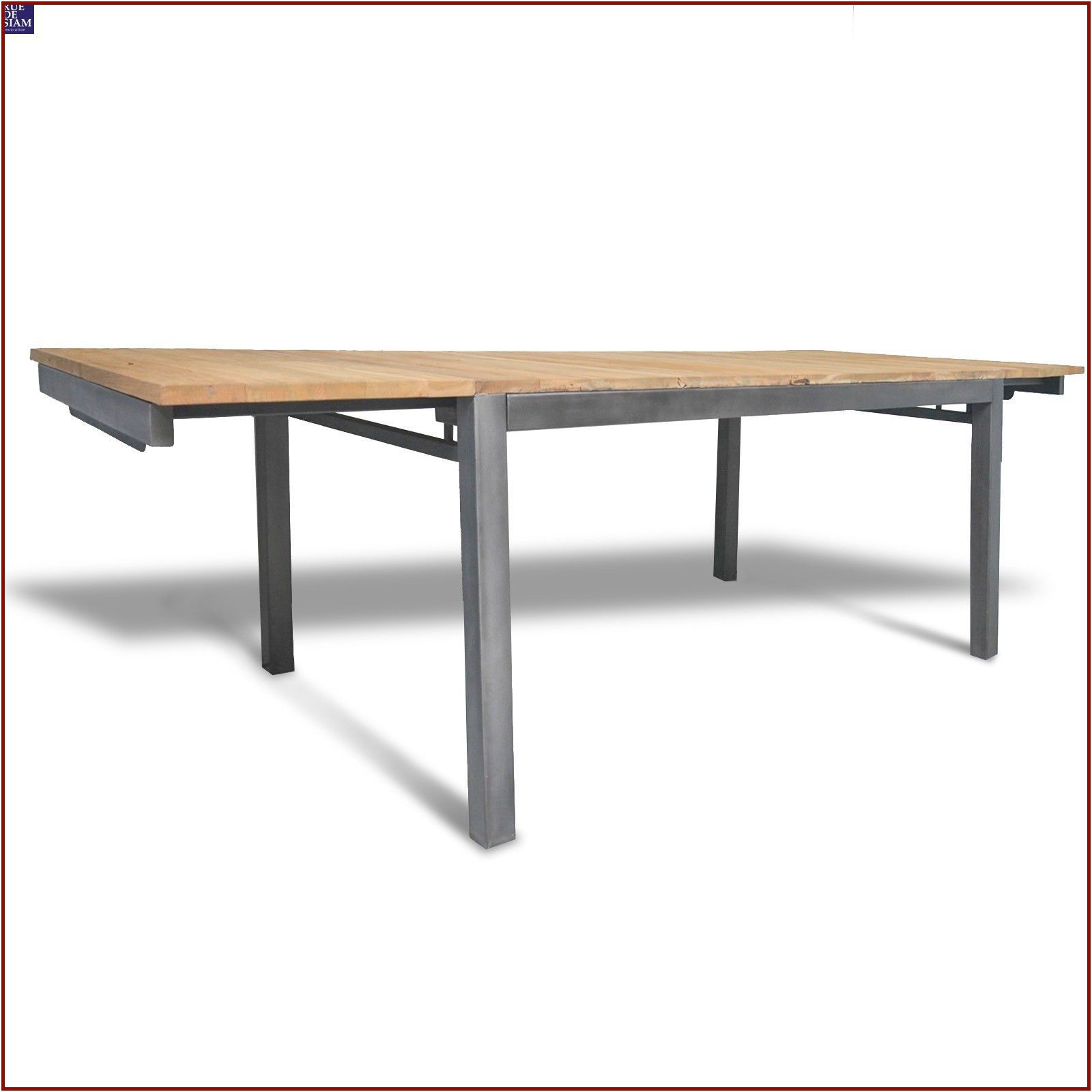 Table Console Extensible Bois Metal Tableextensible Di 2020