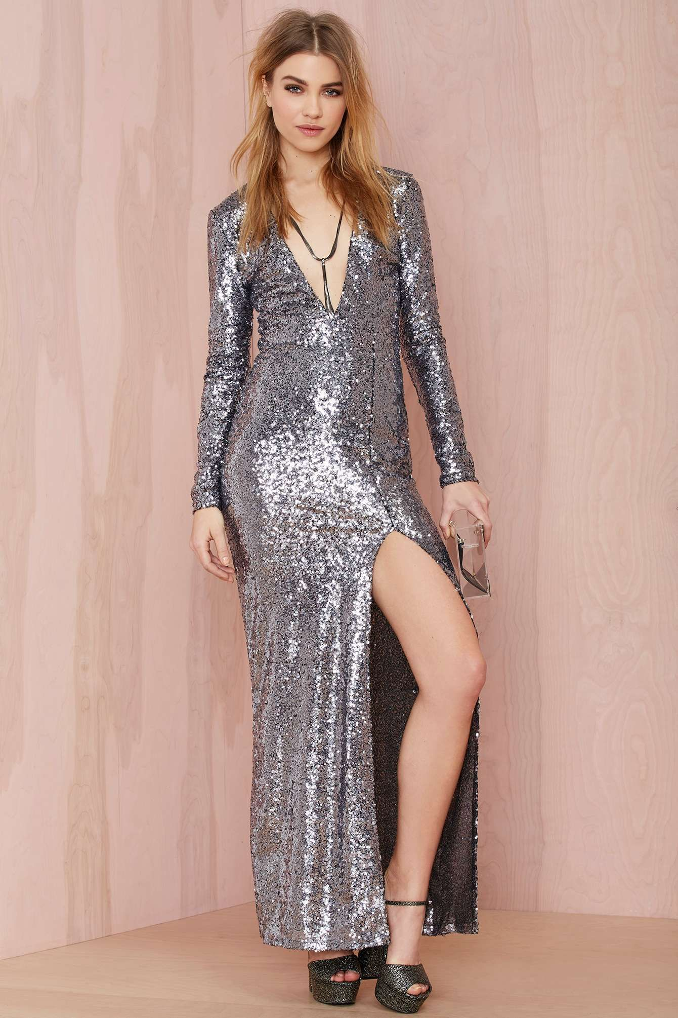 Nasty Gal Hustle Sequin Dress | Shop What's New at Nasty Gal