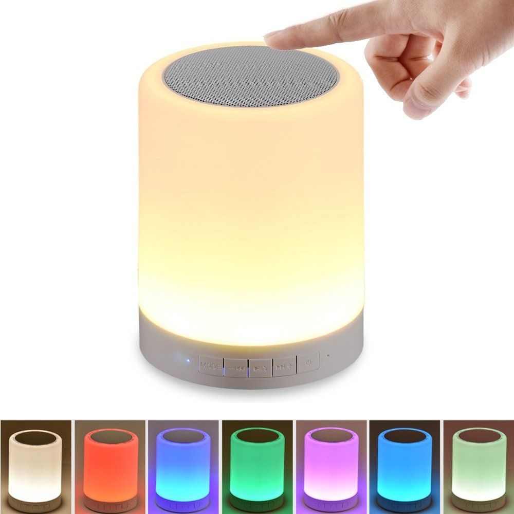 Portable Wireless Bluetooth Speakers Touch Contr Night Light Bluetooth Speaker