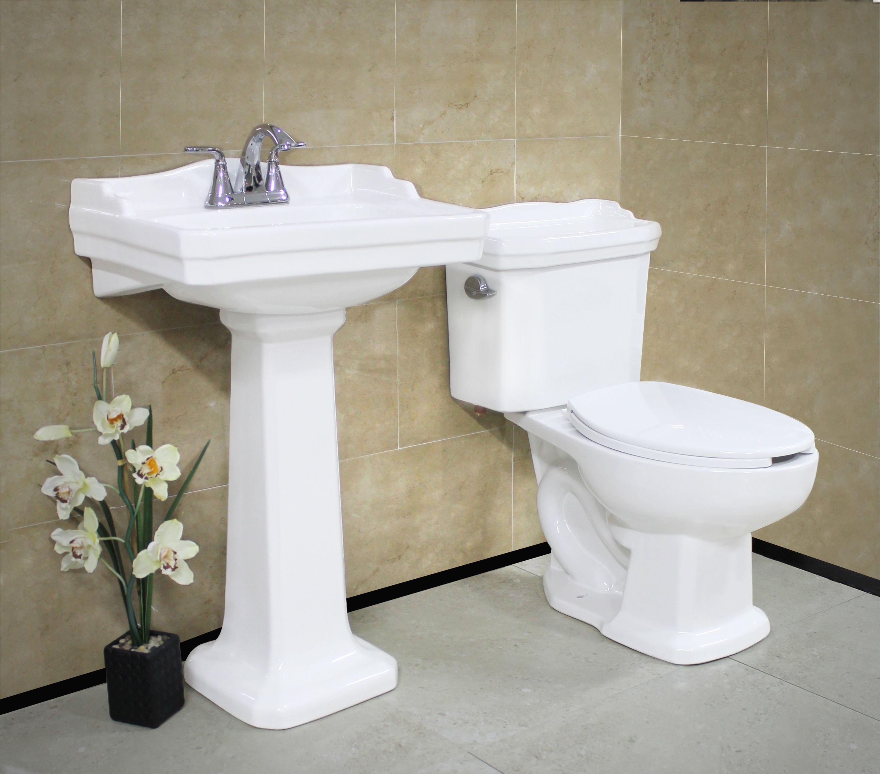 lavabo con pedestal y sanitario zurich de la là nea elite cato