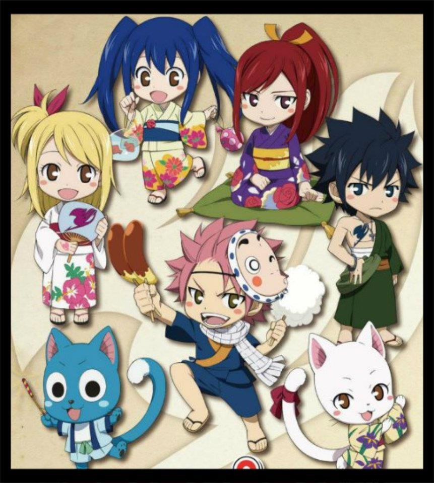 Fairy Tail chibis. ** Pinterest Fairytail, Anime
