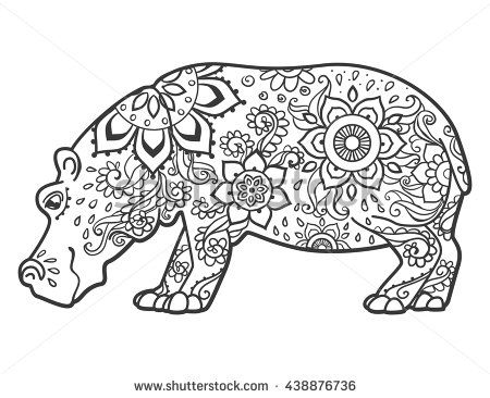 Fiona Hippo Coloring Pages Concept