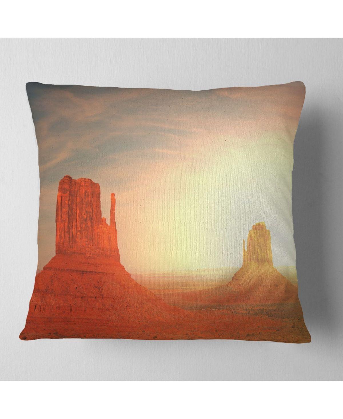 Designart Monument Valley Utah Usa Landscape Printed Throw Pillow 26 X 26 Utahusa Designart Monumen Printed Throw Pillows Monument Valley Utah Throw Pillows