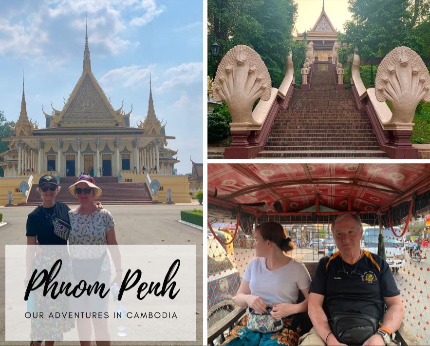 Our experience in the Cambodian Capital of Phnom Penh. We visit the temple of Wat Phnom and then go to the killing fields and the S-21 prison which was truely horrifying! We also had some Cambodia BBQ after visiting the amazing royal palace.  #Family #Holiday #Travel #Tourists #Asia #Cambodia #PhnomPenh #Palace #Temple #Genocide #Museum