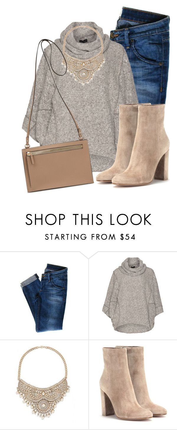"""""""Selective Suede"""" by agreeson ❤ liked on Polyvore featuring Hudson Jeans, Bohème, Bebe and Gianvito Rossi"""