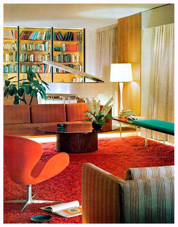 Living Room Decor, 1971 : TheWayWeWere | Mid century ...