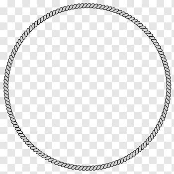 Round White Rope Frame Rope Circle Free Rope Border Free Png Circle Drawing Circle Arrow Arrow Illustration