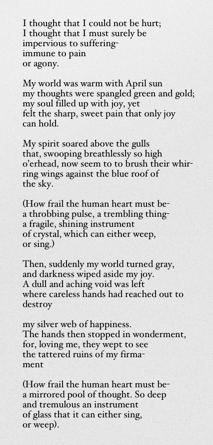 Poems About Pain And Suffering 1