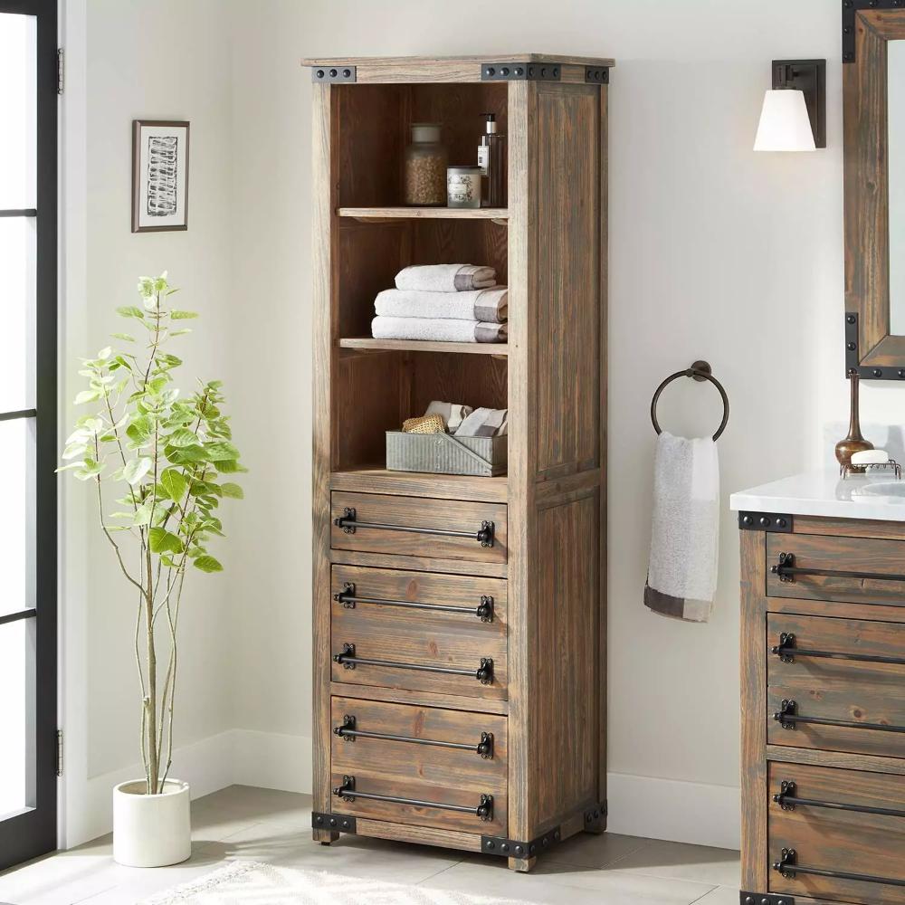24 Bonner Bathroom Linen Storage Cabinet Pine Bathroom Linen Storage Cabinet Bathroom Storage Cabinet Storage Cabinets