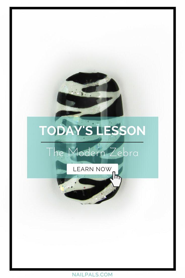 A Modern Twist To A Class Zebra Print Check Out The Nailart Lesson