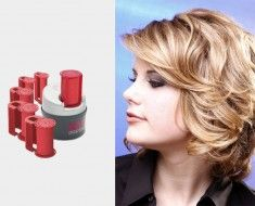 Best Hot Rollers For Short Curly Thick Hair Thick Hair Styles Curly Hair Types Hot Rollers