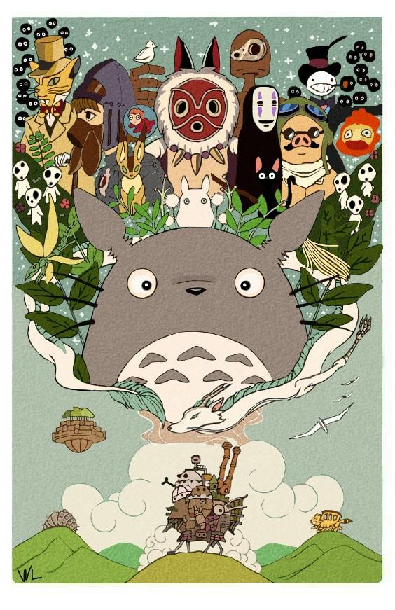 Studio Ghibli by WansLeeh on DeviantArt