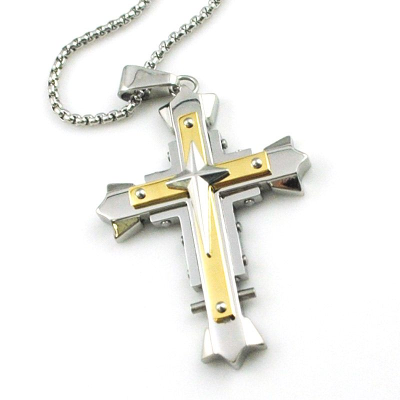 Moorvan high quality men cool crucifix necklace good looking penant moorvan high quality men cool crucifix necklace good looking penant fashion cross jewelry with chains stainless aloadofball Images