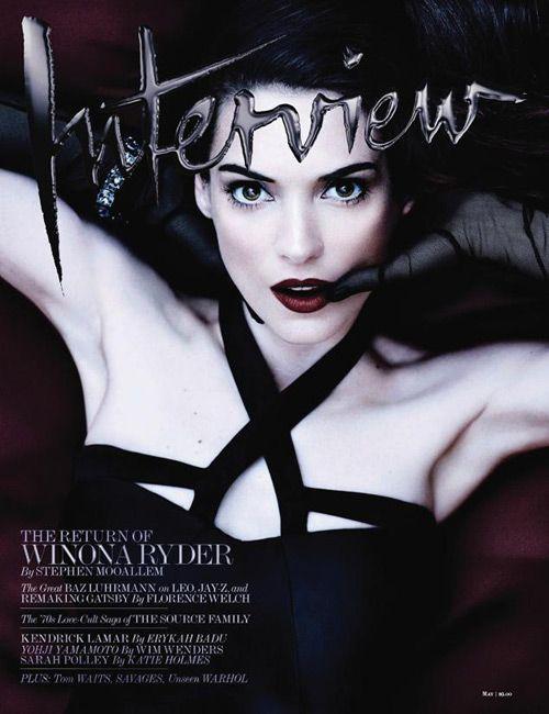 Winona Ryder for Interview Magazine | Tom & Lorenzo ...
