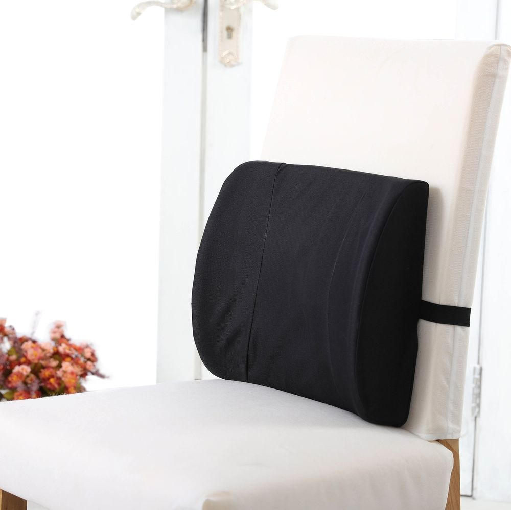 Firm lumbar back support rest pillow cushion memory foam waist car
