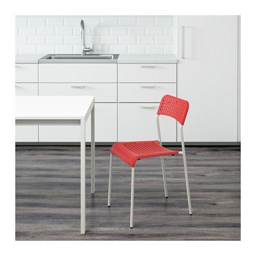 Sedie Pieghevoli Imbottite Ikea.Adde Sedia Rosso Bianco Sedie Pieghevoli Sedia Ikea E Idee Ikea