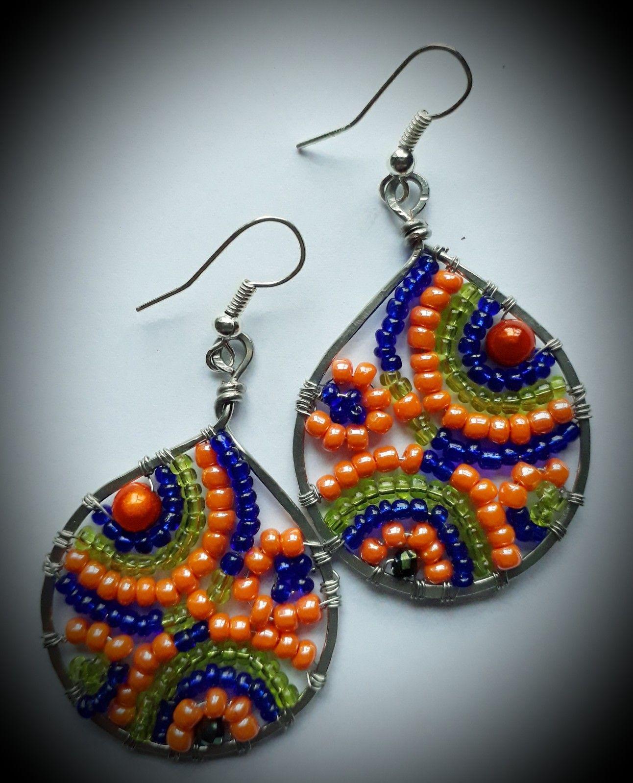 Handmade beaded earrings handmade earrings beaded