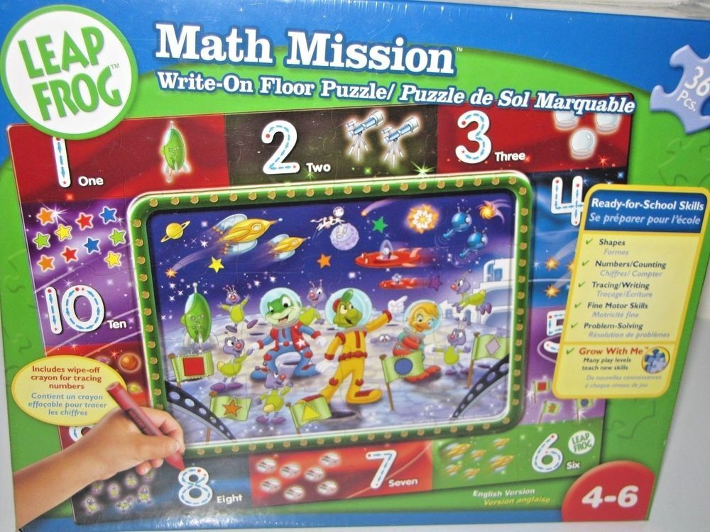 New Leap Frog Math Mission Write On Floor Puzzle 13611