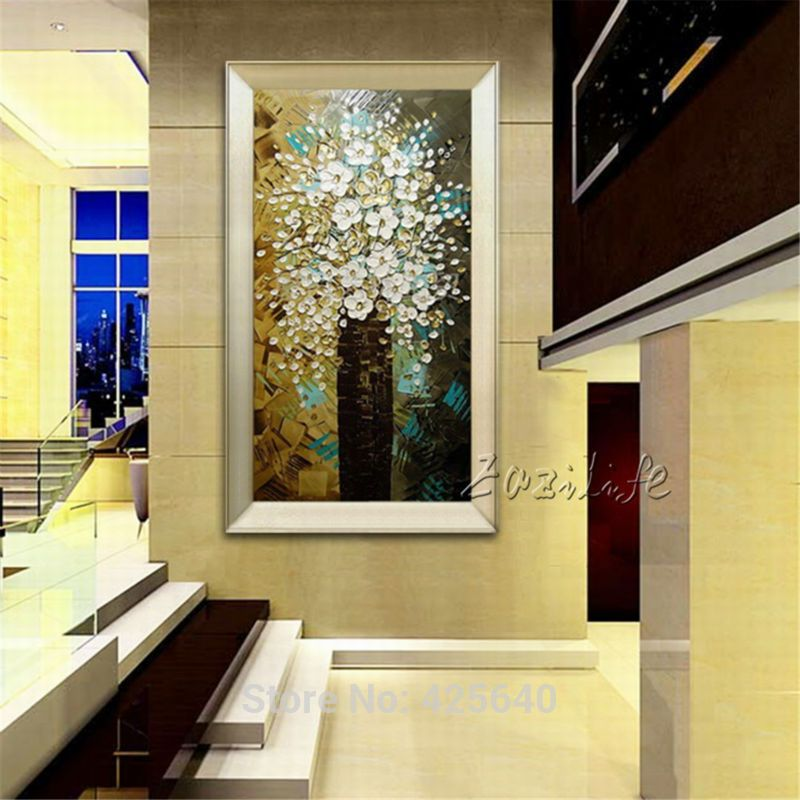 Brand new arriving Oil Painting Morden Abstract Flower Wall Art On ...