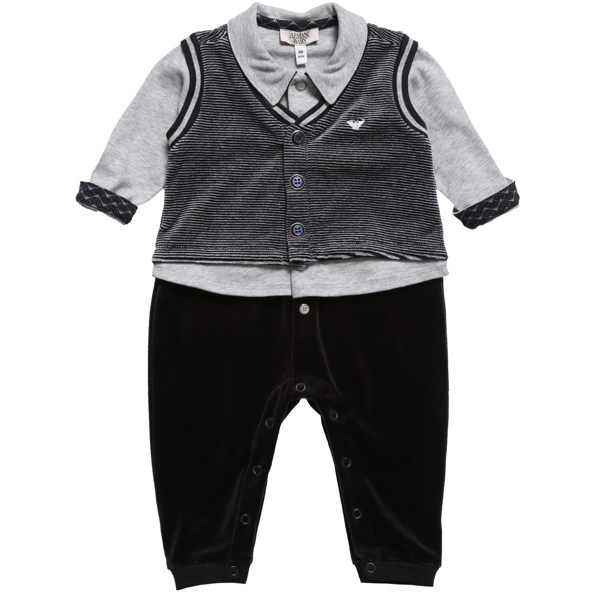 25cd257d32b6 Armani Baby - Boys Navy Blue Velour Outfit