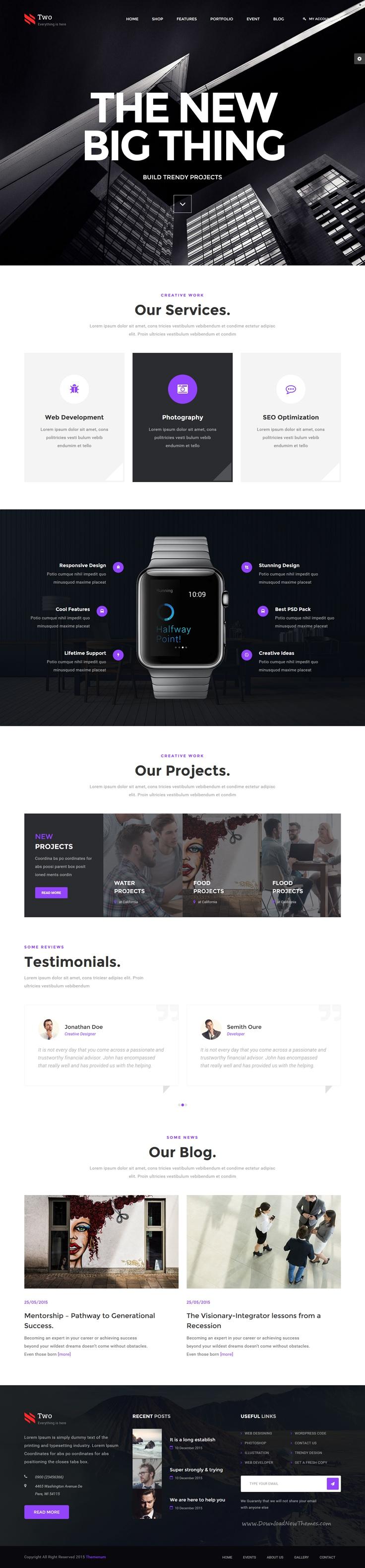 NumberTwo - Responsive Creative Multipurpose HTML Template ...