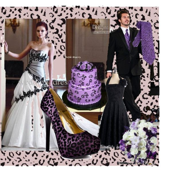 Purple And Black Animal Print Wedding It S Tragic How Many People There Are In The