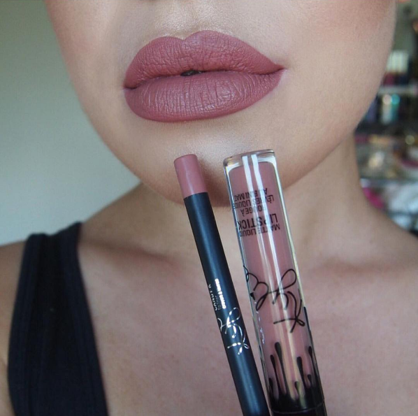 For Comparison Here S Candy K From The Kylie Lip Kit Kylie Lip Kit Exposed Lip Kit Kylie Lip Kit