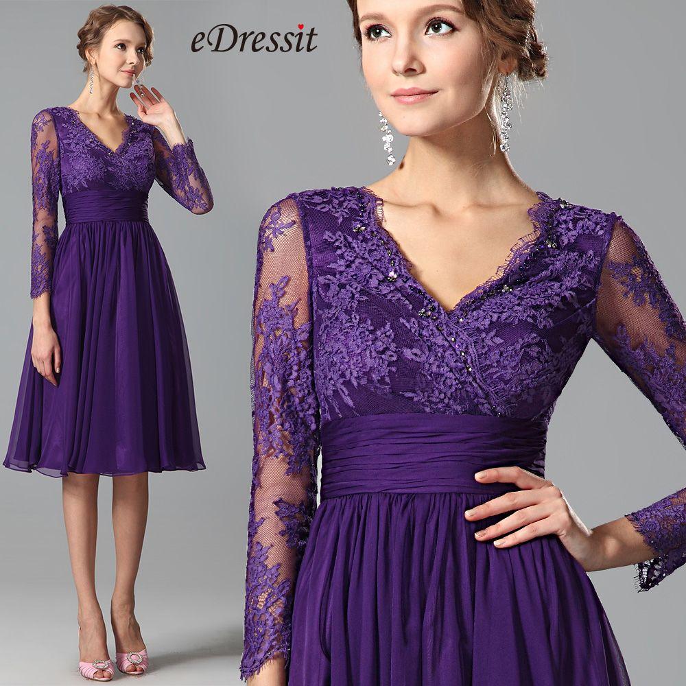 eDressit lila Spitze kurze Kleid SKU: 26152206 | welches Kleid passt ...