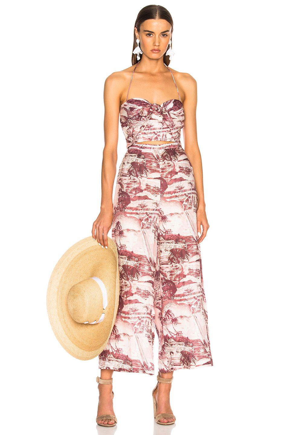 Image of zimmermann kali hawaiian jumpsuit in hawaiian print my