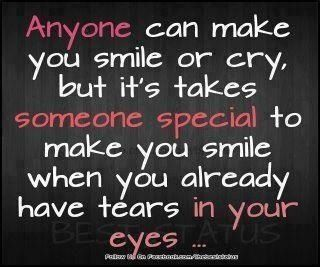 I love to laugh and cry at the same time!!
