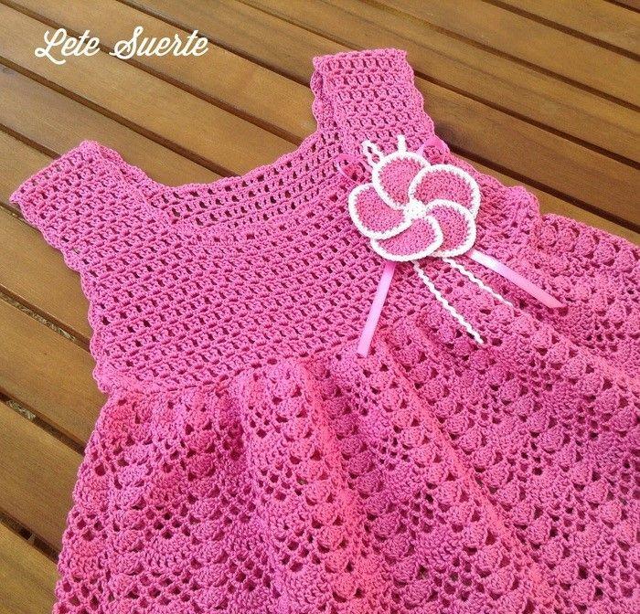 Crochet bright dress for girl | Vestiditos