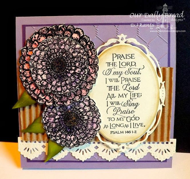 ODBDSLC194 Amethyst, Purple, Lavender  Stamps - Our Daily Bread Designs  Zinnia, Scripture Collection 10, ODBD Custom Zinnia  and Leaves Die, ODBD Custom  Beautiful Borders Dies