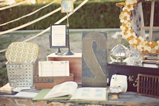 Welkoms tafel met info, foto's, geschenken en gastenboek?