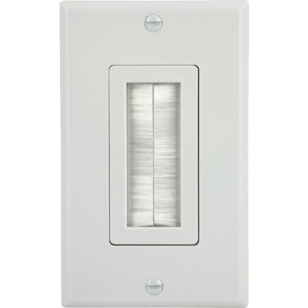 Ge 87697 Single Brush Wall Plate Products Pinterest Speaker Wiring Hdmi Runs Cables Cleanly Neatly Through Works Great With Coaxial All Standard A And V Wires