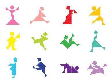 portal crescer tangram card ideas 2 pinterest